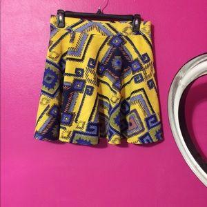 Tribal printed skirt